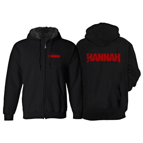 Metal Hannah Fur-Lined Hoodie - Black